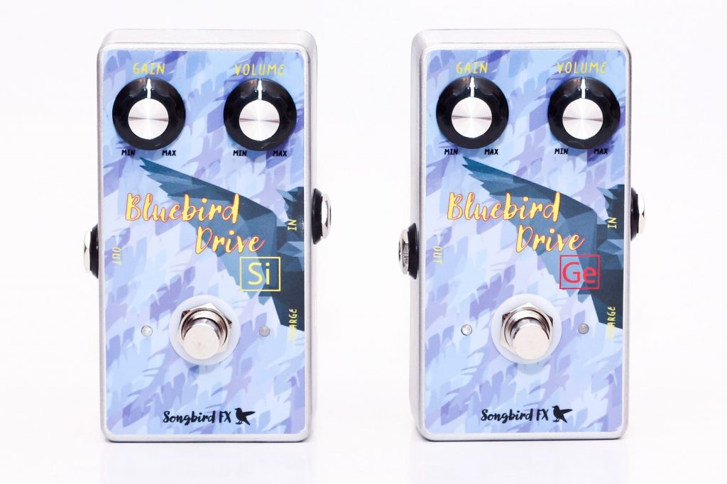 Songbird FX - Bluebird Drive Si and Ge - Silicon Germanium Clipping Stage Diodes Overdrive Pedal Rechargeable Micro-USB