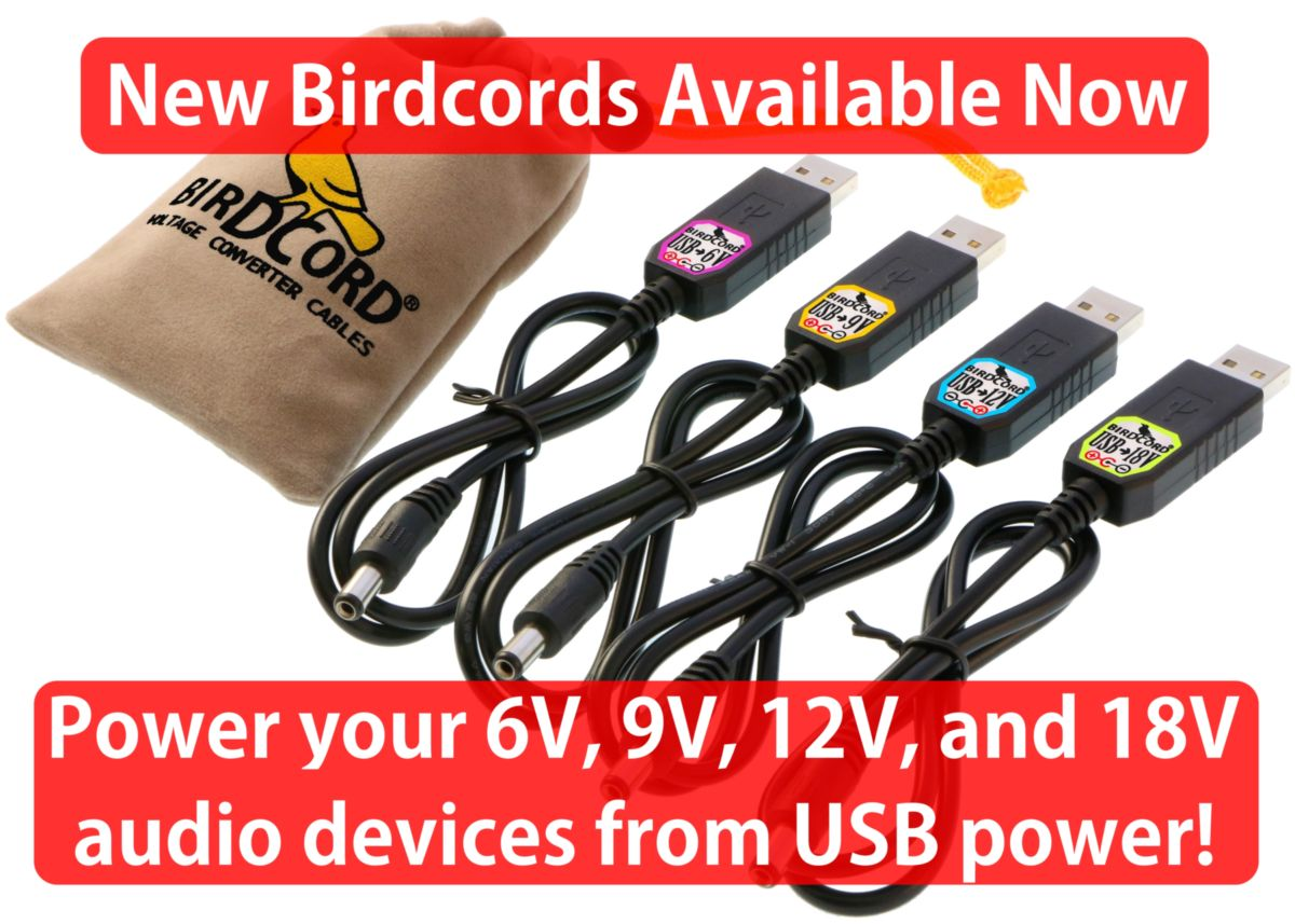 birdcord usb step up converter cable 5v to 6v 9v 12v 18v volt volts guitar effects pedals pedalboards amplifiers synthesizer keyboard