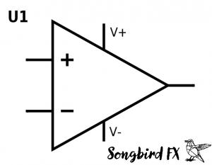 OPV Schaltsymbol Schaltzeichen mit Versorgung V+ V- Grundschaltungen Auswahl