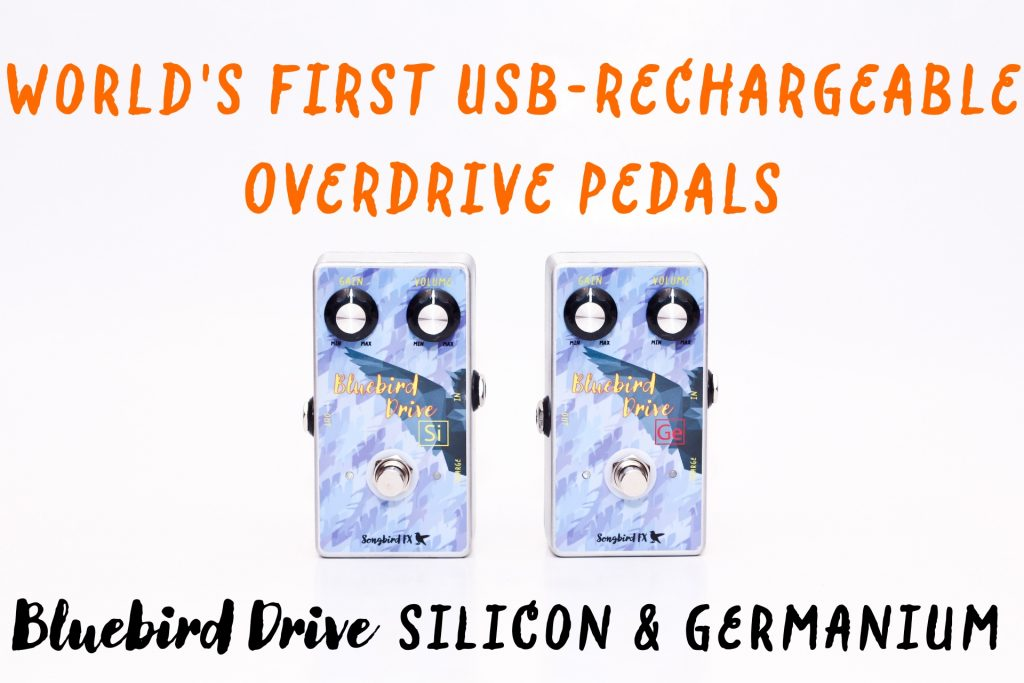 songbird fx world's first micro usb rechargeable overdrive guitar pedal smartphone wall charger