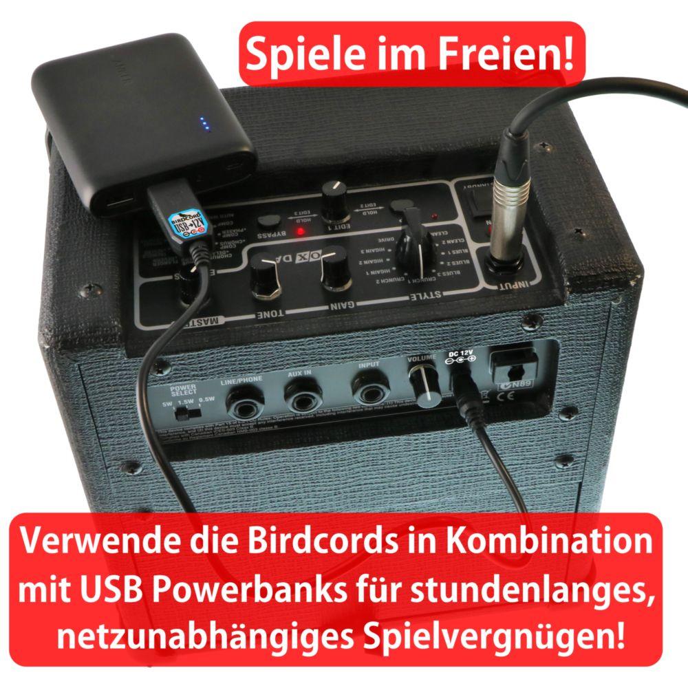 songbird fx usb zu 6v 9v 12v 18v volt konverterkabel spannung verstärker