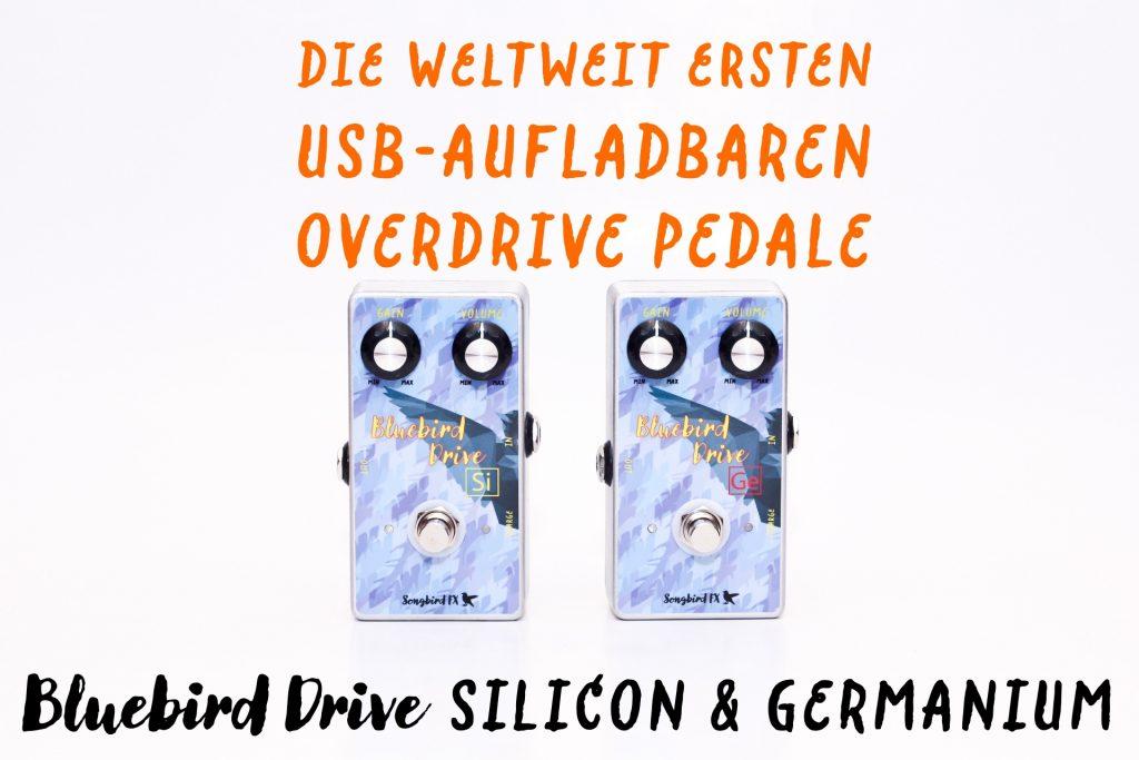 Songbird FX weltneuheit erstes usb aufladbares overdrive gitarreneffekt pedal verzerrer