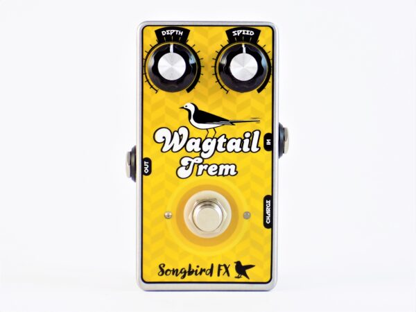songbird fx wagtail trem optical tremolo pedal effects vactrol fender blackface silverface amp style rechargeable pedal board supply