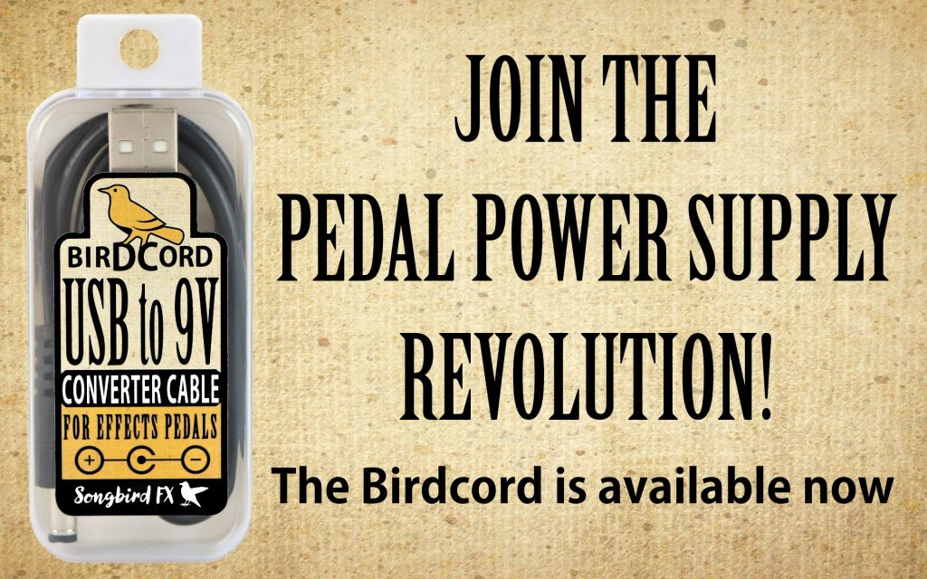 birdcord usb to 9v converter cable songbird fx join the pedal power supply revolution