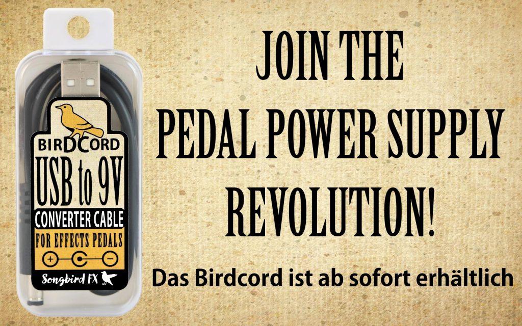 songbird fx birdcord erhältlich jetzt kaufen usb zu 9v konverter kabel