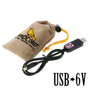 birdcord usb to 6v voltage converter cable step up cable songbird fx songcord 6 volt 6-volt 12v 9v 18v